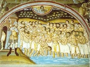 Sfintii 40 Mucenici